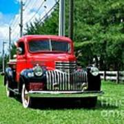 1946 Chevy Short Bed Art Print by Andres LaBrada