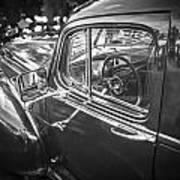 1946 Hudson Super Six Sedan Bw Art Print