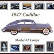 1947 Cadillac Model 62 Coupe Art Art Print