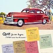 1947 - Desoto Automobile Advertisement - Color Art Print