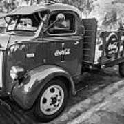 1947 Ford Coca Cola C.o.e. Delivery Truck Bw Art Print