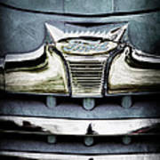 1947 Ford Deluxe Grille Emblem Art Print