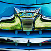 1947 Ford Deluxe Grille Ornament -0700c Art Print