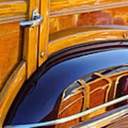 1947 Mercury Woody Reflecting Into 1947 Ford Woody Art Print