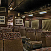 1947 Pullman Railroad Car Interior Seating Art Print