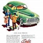 1948 - Dodge Automobile Advertisement - Color Art Print