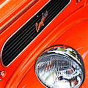 1948 Anglia 2-door Sedan Grille Emblem Art Print