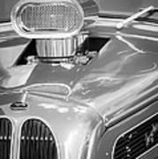 1948 Anglia Engine -522bw Art Print