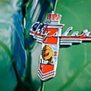 1948 Chrysler Town And Country Convertible Emblem -0974c Art Print