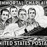 1948 Immortal Chaplains Stamp Art Print