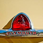 1948 Plymouth Deluxe Emblem Art Print