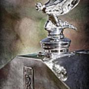 1948 Rolls-royce Hood Ornament - Emblem Art Print