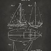 1948 Sailboat Patent Artwork - Gray Art Print