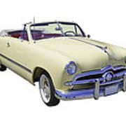 1949 Ford Custom Deluxe Convertible Art Print