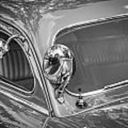 1949 Mercury Club Coupe Bw   Art Print