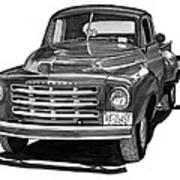1949 Studebaker Pick Up Truck Art Print