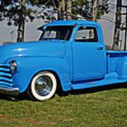 1950 Baby Blue Chevrolet Pu Art Print