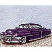Chopped 1950 Cadillac Coupe De Ville Art Print