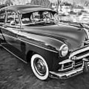 1950 Chevrolet Sedan Deluxe Painted Bw   Art Print