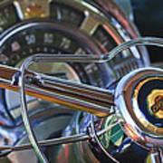1950 Chrysler New Yorker Coupe Steering Wheel Emblem Art Print