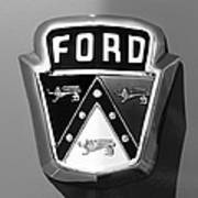 1950 Ford Custom Deluxe Station Wagon Emblem Art Print by Jill Reger