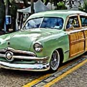 1950 Ford Deluxe Woody Station Wagon Art Print