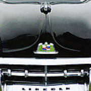 1950 Lincoln Cosmopolitan Henney Limousine Grille Emblem - Hood Ornament Art Print