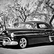 1950 Oldsmobile 88 -004bw Art Print