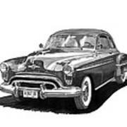 1950 Oldsmobile Rocket 88 Art Print