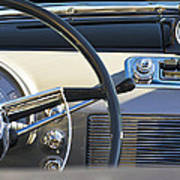 1950 Oldsmobile Rocket 88 Steering Wheel 3 Print by Jill Reger