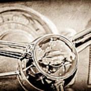 1950 Oldsmobile Rocket 88 Steering Wheel Emblem Art Print