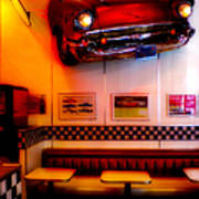1950s American Diner - Featured In Vehicle Enthusiasts Art Print