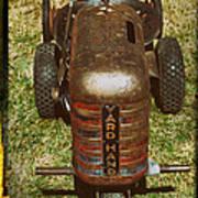 1950s Yard Hand Tractor Art Print
