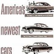 1951 - Kaiser Frazer Manhattan Automobile Advertisement - Color Art Print