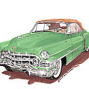 1951 Cadillac Series 62 Convertible Art Print