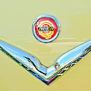 1951 Chrysler New Yorker Convertible Emblem Art Print by Jill Reger
