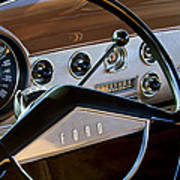 1951 Ford Crestliner Steering Wheel Art Print