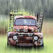 1951 Ford Truck - Found On Road Dead Art Print