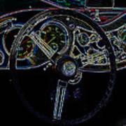1951 Mg Td Dashboard_neon Car Art Art Print