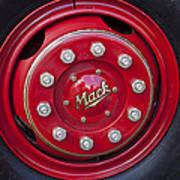 1952 L Model Mack Pumper Fire Truck Wheel Art Print