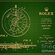 1952 Rolex Calendar Timepiece 1 Art Print