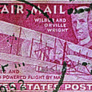 1952 Wright Brothers Stamp Art Print