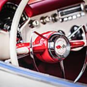 1953 Chevrolet Corvette Steering Wheel Emblem -1400c Art Print