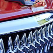 1953 Chevrolet Grille Emblem Art Print