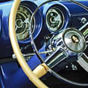 1953 Desoto Firedome Convertible Steering Wheel Emblem Art Print