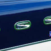 1953 Ferrari 340 Mm Lemans Spyder Side Emblem Art Print