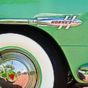 1953 Hudson Hornet Sedan Wheel Emblem Art Print