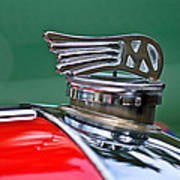 1953 Morgan Plus 4 Le Mans Tt Special Hood Ornament Art Print by Jill Reger