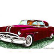 1953 Pontiac Parisienne Concept Art Print by Jack Pumphrey