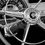 1953 Pontiac Steering Wheel 2 Art Print